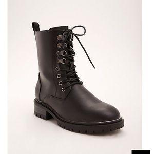 TORRID Black combat boots 8W